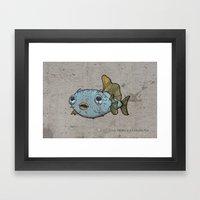 Pececitos color! Framed Art Print