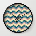 Speckled Chevron Wall Clock