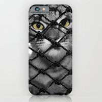 iPhone & iPod Case featuring Tiger Inside by Draconis Rose