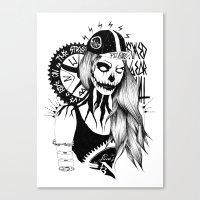 Fixed Gear Girl Canvas Print