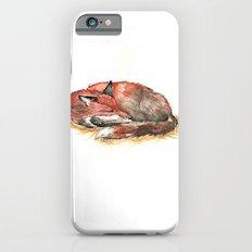 Sleeping Fox Watercolor iPhone 6s Slim Case
