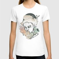space between Womens Fitted Tee White SMALL