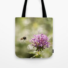 Flower With Hoverfly Tote Bag