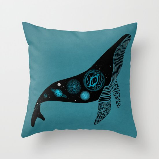 Whale Soul & the Galactic Tour Throw Pillow