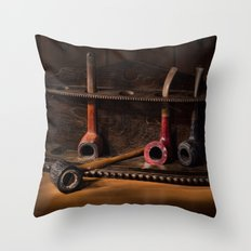 The Pipe Rack Throw Pillow
