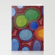 Moving Coloured Round Sh… Stationery Cards