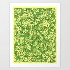 Floral Hops Art Print