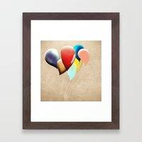 Happy Birthday Transpare… Framed Art Print