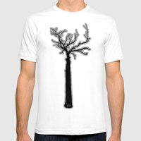 Black & White Tree's Mens Fitted Tee White SMALL