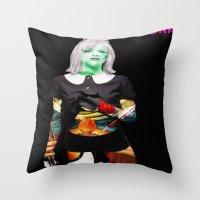 Courtney Love. Throw Pillow