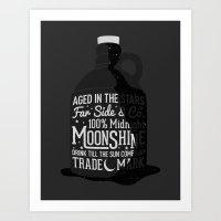 Art Print featuring Midnight Moonshine by Eric Zelinski