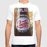 Pepsi Nostalgia Mens Fitted Tee White SMALL