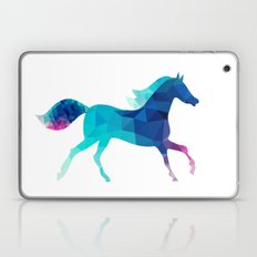 blue horse made of triangles Laptop & iPad Skin