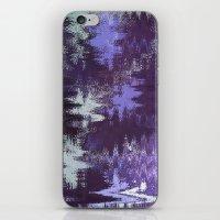 Purple Rain Glitch iPhone & iPod Skin