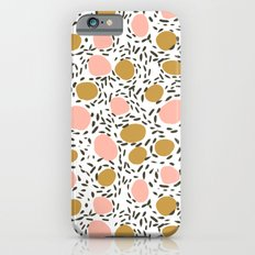 Pebbles cute pattern gender neutral dorm college abstract design minimal modern earth nature Slim Case iPhone 6s