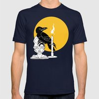 The Raven Mens Fitted Tee Navy SMALL