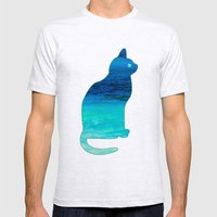 SEA CAT Mens Fitted Tee Ash Grey SMALL