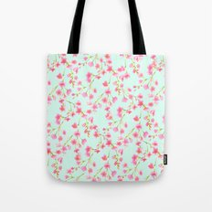 Cherry Blossom Pink Mint (for Mackenzie) Tote Bag