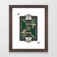 Owl Card. Framed Art Print