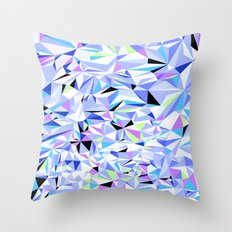 Periwinkle Polygons Throw Pillow