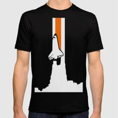 Launch me - The Final Flight of the Space Shuttle Black SMALL Mens Fitted Tee