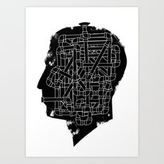 Pipe man Art Print