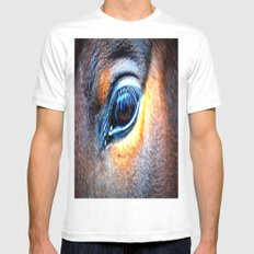 eye of horse White SMALL Mens Fitted Tee
