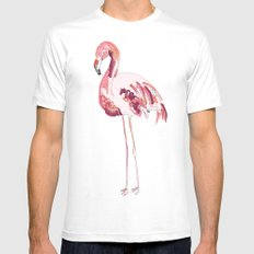 Flamingo Mens Fitted Tee White SMALL
