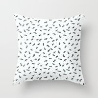 twigs & dots turquoise Throw Pillow