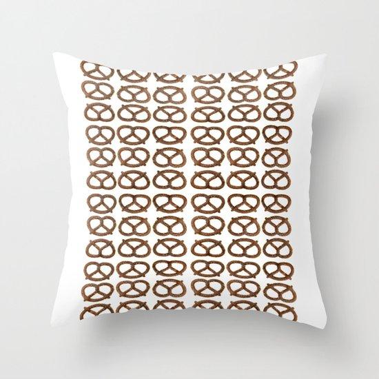 pretzel pattern Throw Pillow