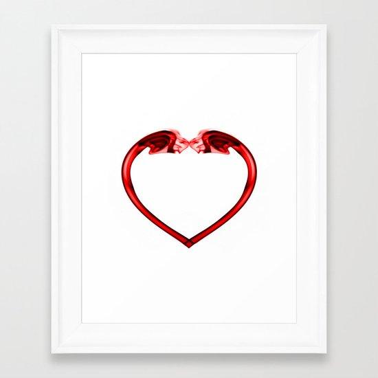 Love Smoke Red 2 Framed Art Print