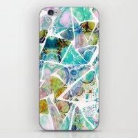 Marbled Earth Blue iPhone & iPod Skin