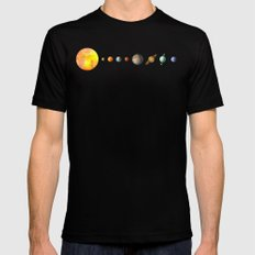 Solar System  Mens Fitted Tee Black SMALL
