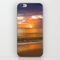Sunset on the Beach iPhone & iPod Skin