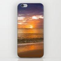Sunset On The Beach iPhone & iPod Skin