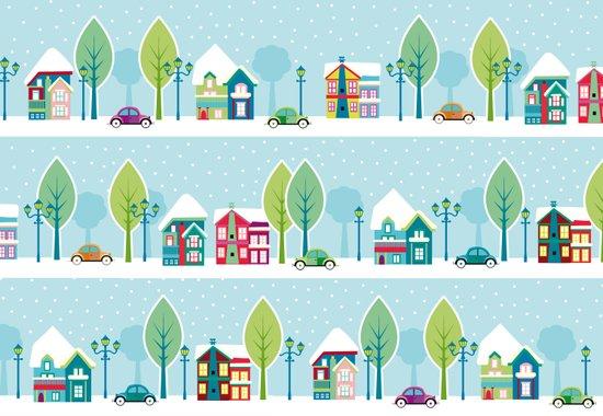 Ski house Canvas Print