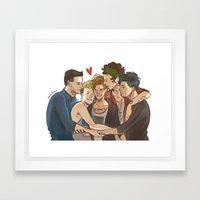 Everyone Loves Louis Framed Art Print