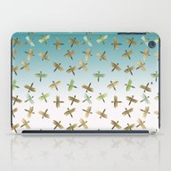 Mint Gold Blue Watercolo… iPad Case