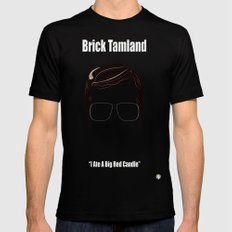 Brick Tamland: Weather Mens Fitted Tee Black SMALL