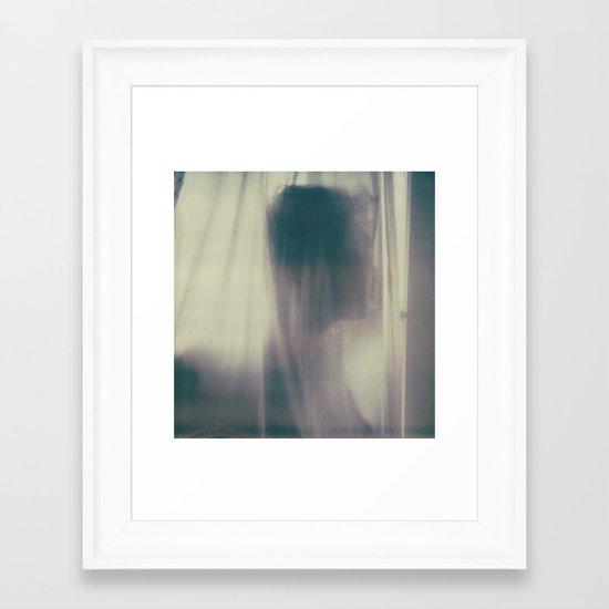 the velvet darkness of his mind Framed Art Print
