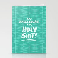 Hallelujah, Holy Shit �… Stationery Cards