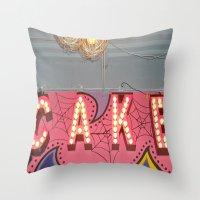 Cake ~ Pop Carnival Sign… Throw Pillow