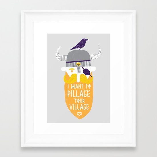 Pillage Framed Art Print
