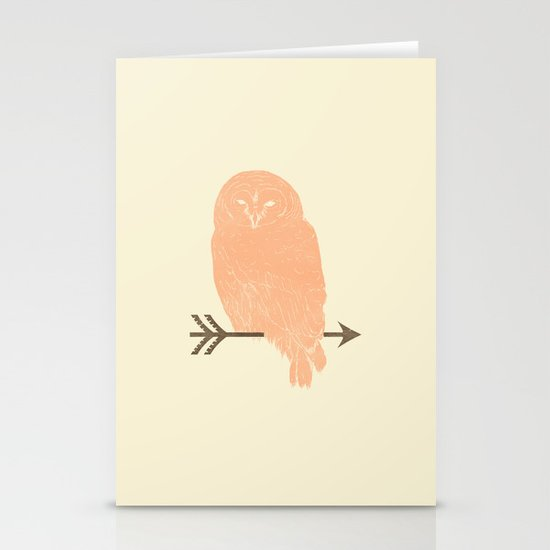 Owl and Arrow Stationery Card