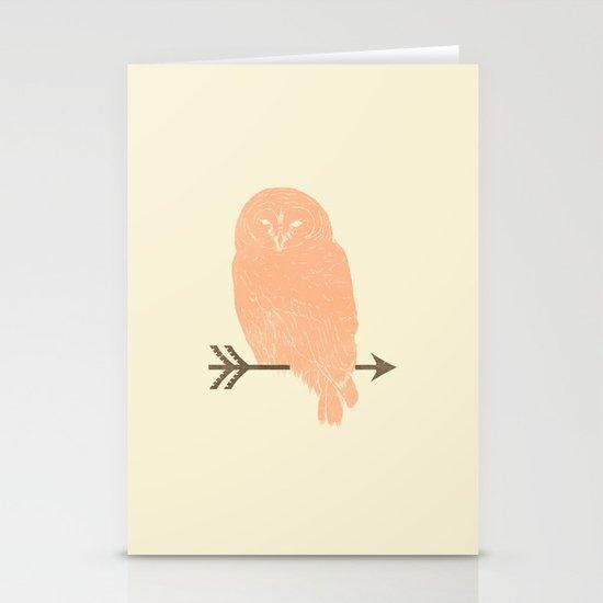 Owl and Arrow Stationery Card
