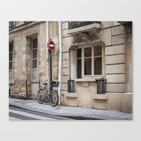 Parked at Ile Saint-Louis Canvas Print