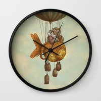 Around the World in the Goldfish Flyer Wall Clock