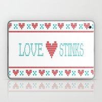 Love Stinks Cross Stitch Laptop & iPad Skin