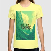 Wanderlust Womens Fitted Tee Lemon SMALL