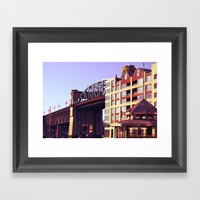 burrard bridge Framed Art Print